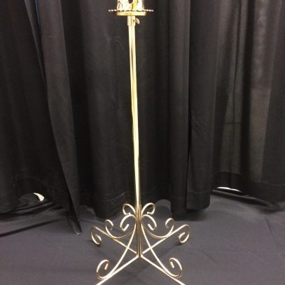 Single light aisle, comes in pair, available in brass or nickel