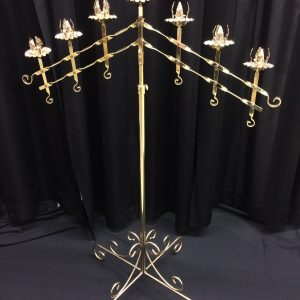 7 light adjustable, comes in pair, available in brass or nickel