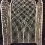 Screen, wicker with hearts
