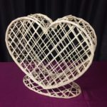Wicker Heart Card Holder