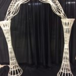 Arch, wicker, available in ivory or white