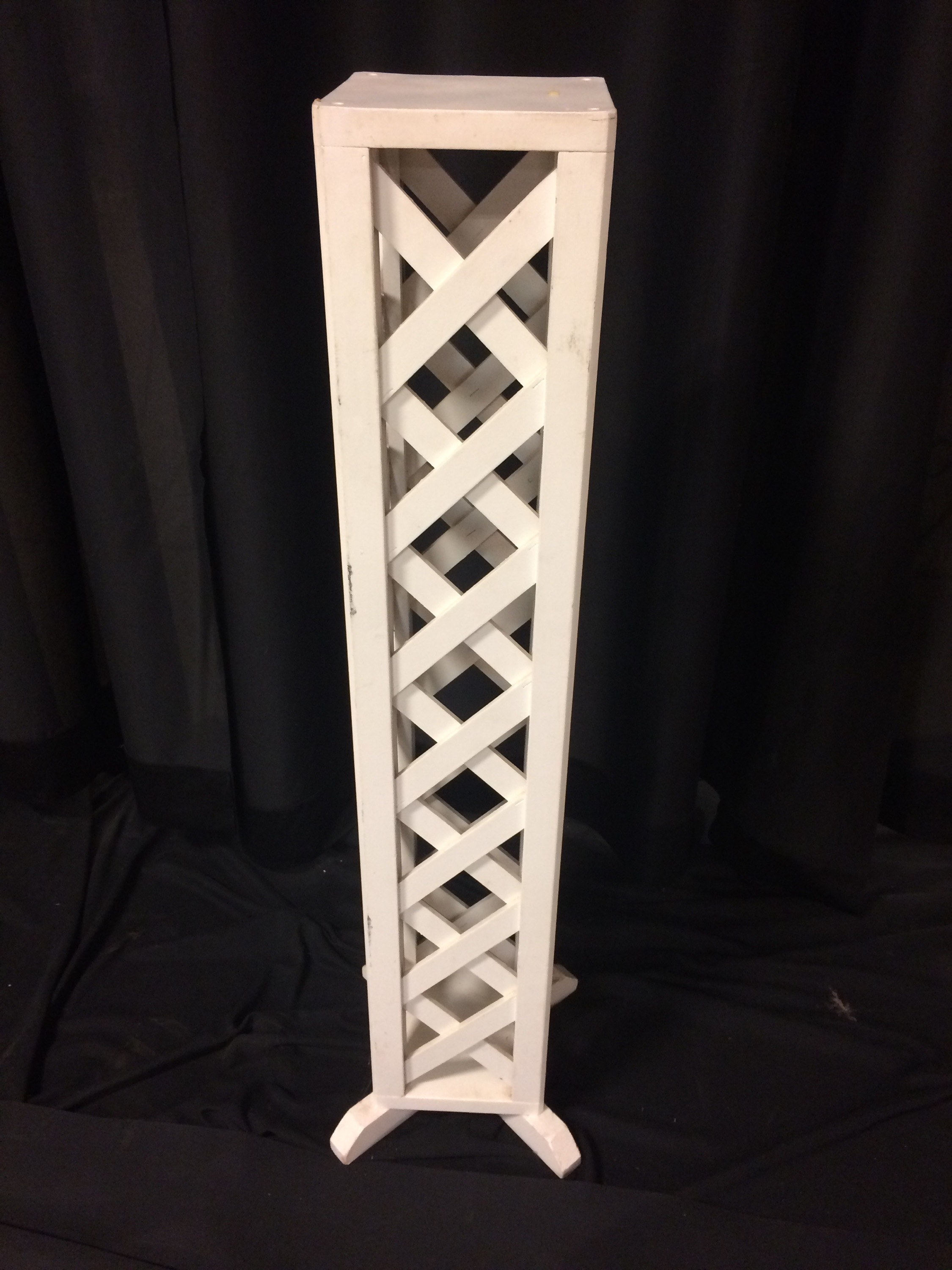 Plant stand, white lattice