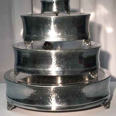 """Cake Plateau: 6"""", 14"""" and 22"""" Round Hammered $4.00+"""
